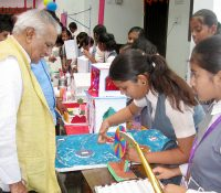 Founder VC, BNMU, Madhepura DR. R.K Ravi inspecting Science Exhibition